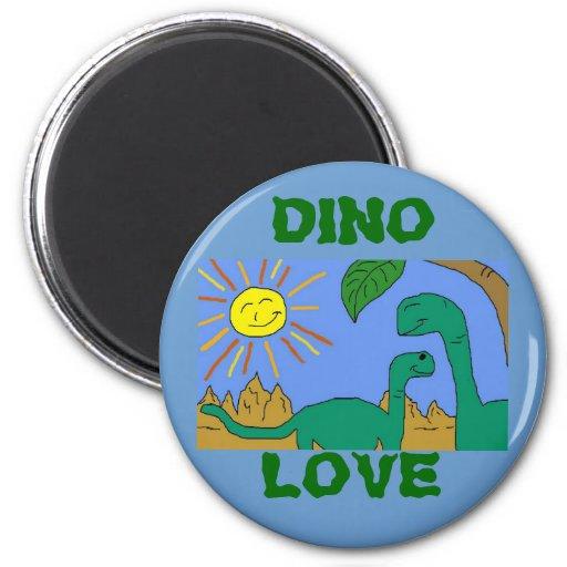 DINO LOVE - I LOVE DINOSAURS Magnet