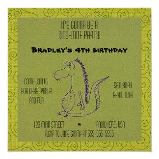 Dino-mite 13 Cm X 13 Cm Square Invitation Card