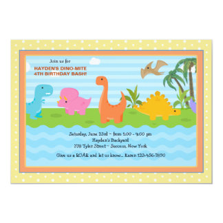 Dino-Mite Buddies Dinosaur Invitation