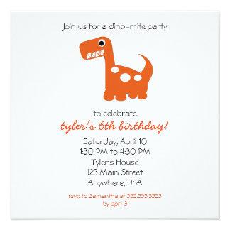 Dino-mite Invitation
