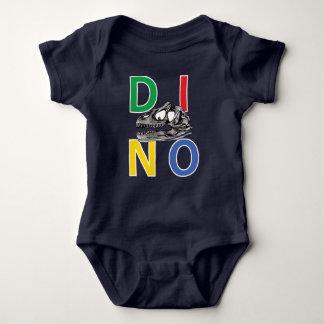 DINO - Navy Blue Baby Jersey Bodysuit
