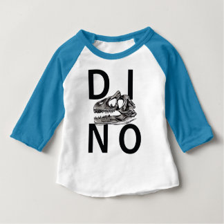 DINO - Neon Blue Baby American Apparel 3/4 Sleeve Baby T-Shirt
