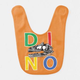 DINO - Orange Baby Bib