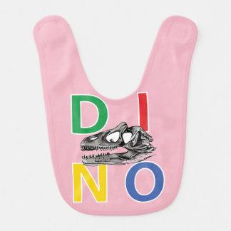 DINO - Pale Pink Baby Bib