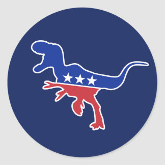 Dino Party Logo Round Sticker