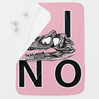 DINO - Pink Baby Blanket