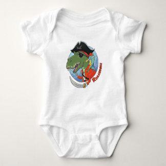 Dino Pirate Baby Bodysuit