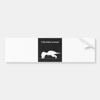 Dino push ups! bumper sticker