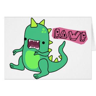 Dino Rawr Greeting Card