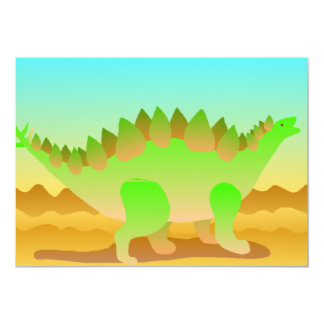 Dino Rawr In Green 13 Cm X 18 Cm Invitation Card