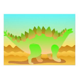 Dino Rawr In Green Personalized Invitation