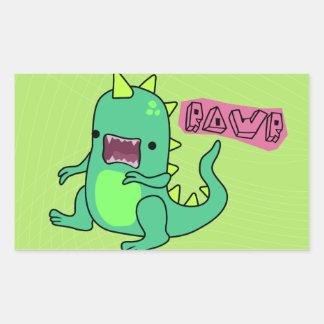 Dino Rawr Rectangular Sticker