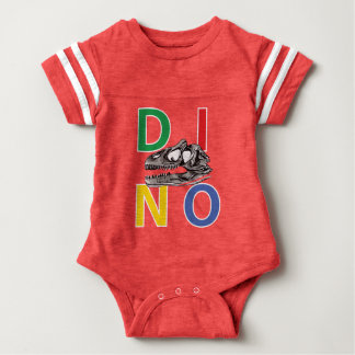 DINO - Red Baby Football Bodysuit
