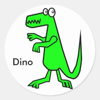 Dino Round Sticker