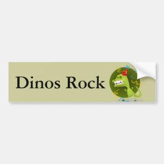 Dino s Rock - Dinosaur Birthday Party Bumper Stickers
