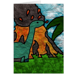 Dino Scare Greeting Card