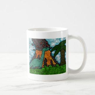 Dino Scare Classic White Coffee Mug
