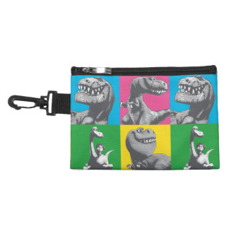 Dino Silhouette Four Square Accessory Bag