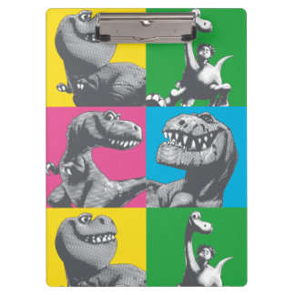 Dino Silhouette Four Square Clipboard