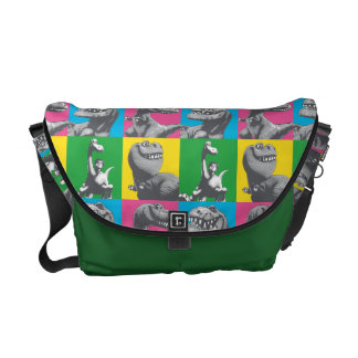 Dino Silhouette Four Square Messenger Bag