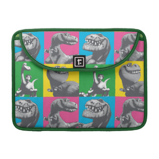 Dino Silhouette Four Square Sleeve For MacBook Pro