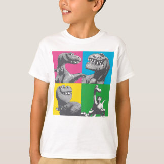 Dino Silhouette Four Square T-Shirt