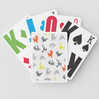 Dino Silhouette Pattern Bicycle Playing Cards
