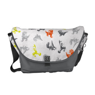 Dino Silhouette Pattern Courier Bags