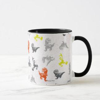 Dino Silhouette Pattern Mug