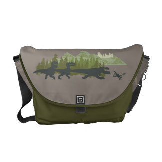 Dino Silhouettes Running Commuter Bag