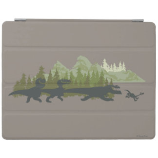 Dino Silhouettes Running iPad Cover