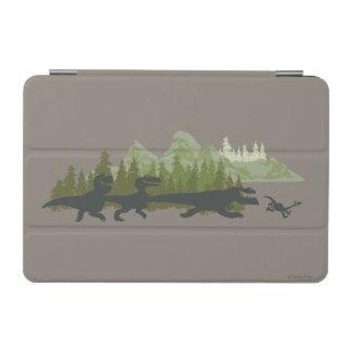 Dino Silhouettes Running iPad Mini Cover