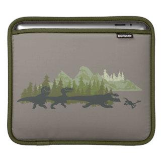 Dino Silhouettes Running iPad Sleeve