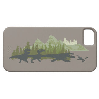 Dino Silhouettes Running iPhone 5 Cases