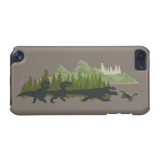Dino Silhouettes Running iPod Touch 5G Covers