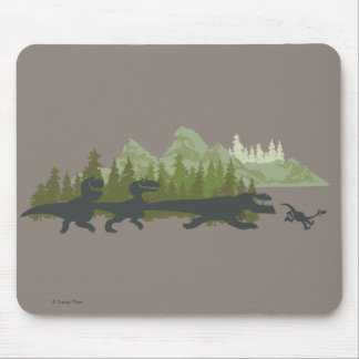 Dino Silhouettes Running Mouse Mat