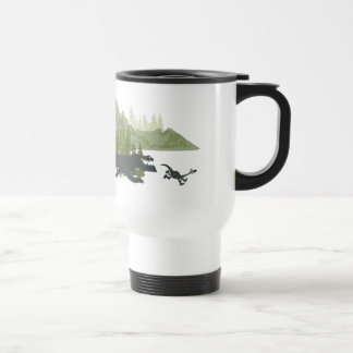 Dino Silhouettes Running Travel Mug