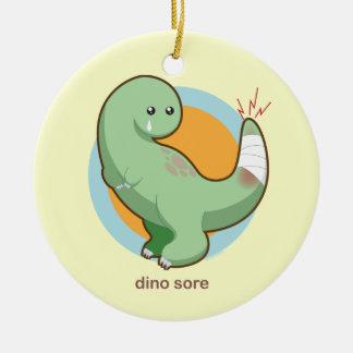 Dino Sore Christmas Ornament