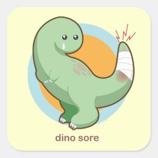Dino Sore Square Sticker