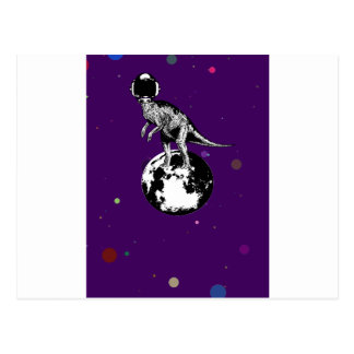 dino spaceman post card