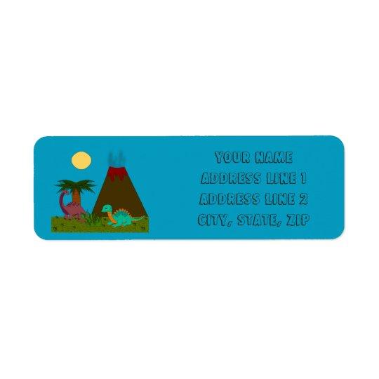 Dino Style - Personalise Return Address Label