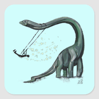 Dino Swing Square Sticker