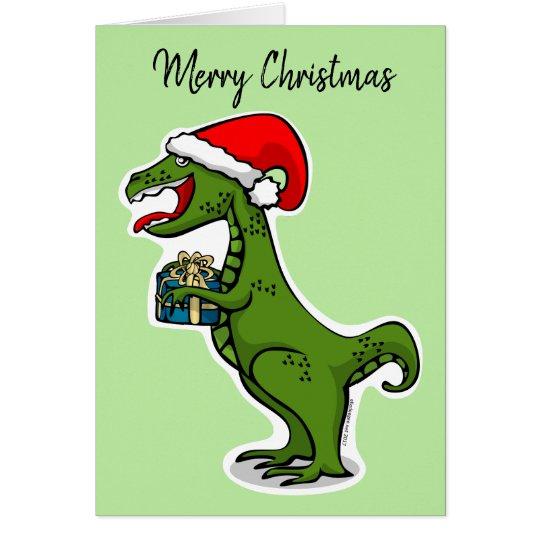 Dino T-rex Christmas Card