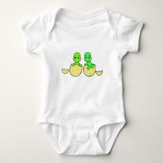 Dino twins baby bodysuit