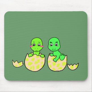 Dino Twins Mouse Pads