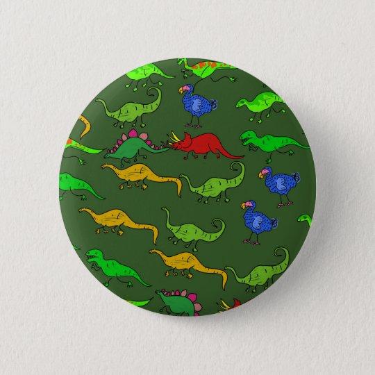 Dino Wallpaper 6 Cm Round Badge