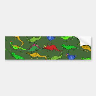 Dino Wallpaper Bumper Sticker