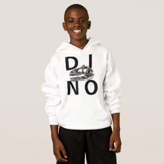 DINO - White Kids' Hanes ComfortBlend® Hoodie