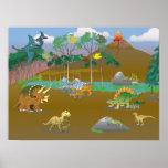 Dino world! print