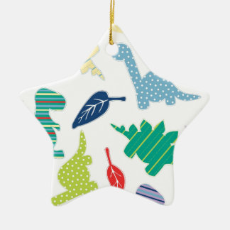 Dinomite! Cute Colorful Dinosaur Pattern Ceramic Star Decoration